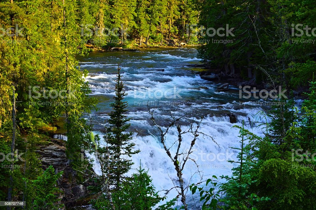 Glacier's McDonald Creek stock photo