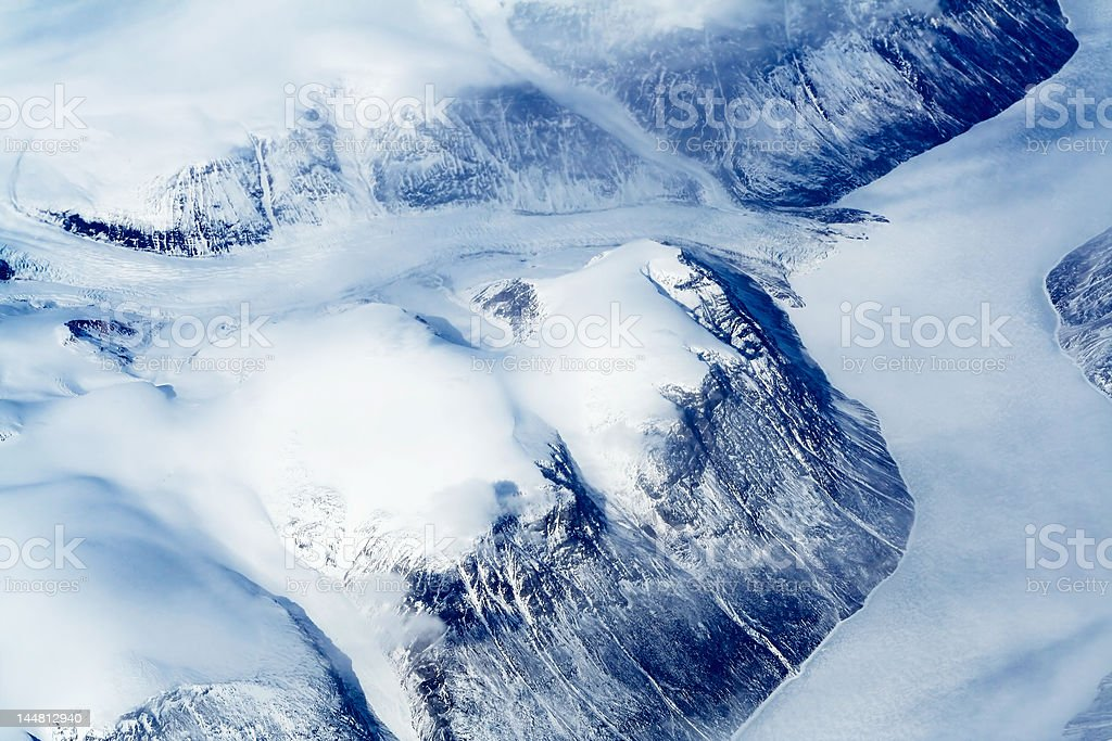 Glaciers of Greenland royalty-free stock photo