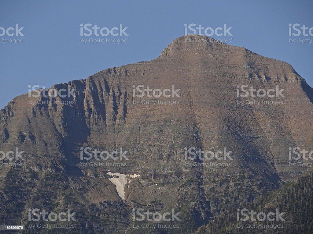Glacier's Rainbow Peak stock photo