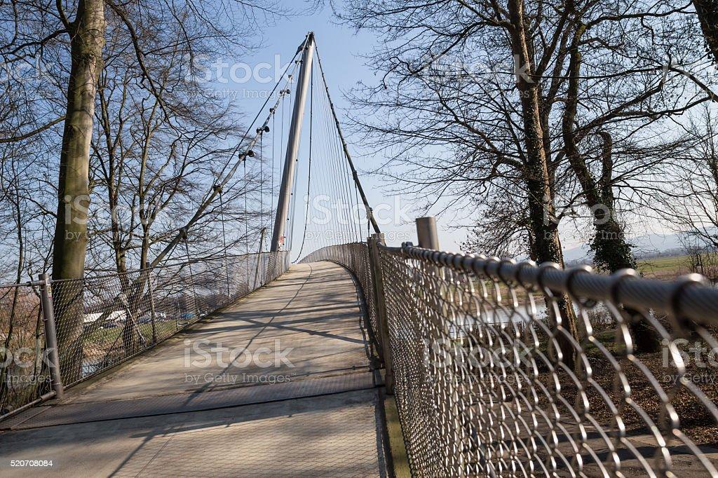 glacis bridge minden germany stock photo