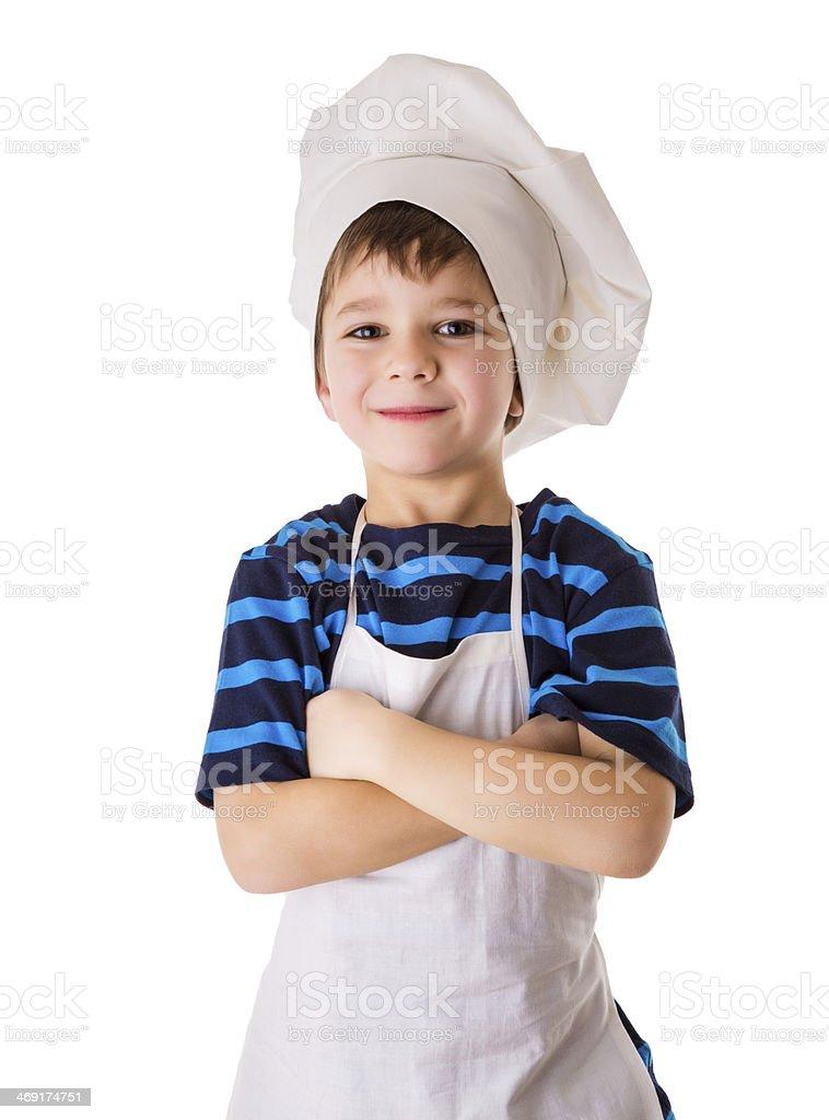 glad little chef stock photo