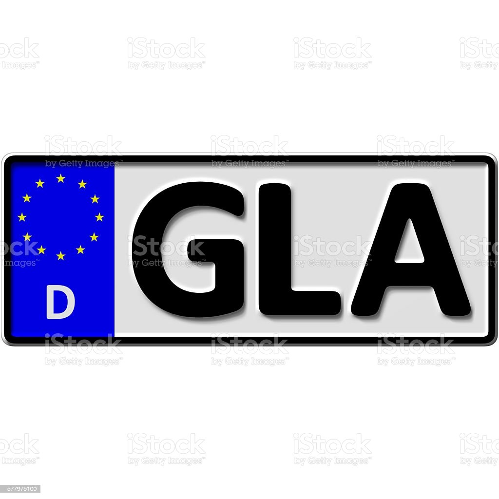 Gladbeck license plate number stock photo