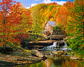 Glade Creek Grist Mill nostalgia blazing autumn colors West Virginia