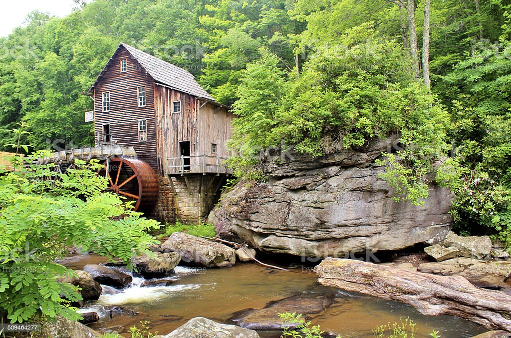 Glade Creek Grist Mill stock photo