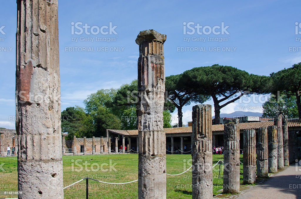 Gladiator Barracks at Pompeii, Italy stock photo
