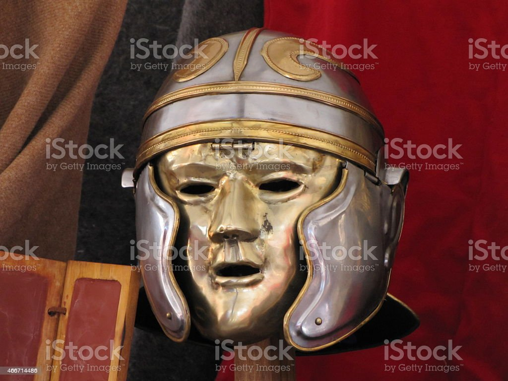 Gladiator mask stock photo