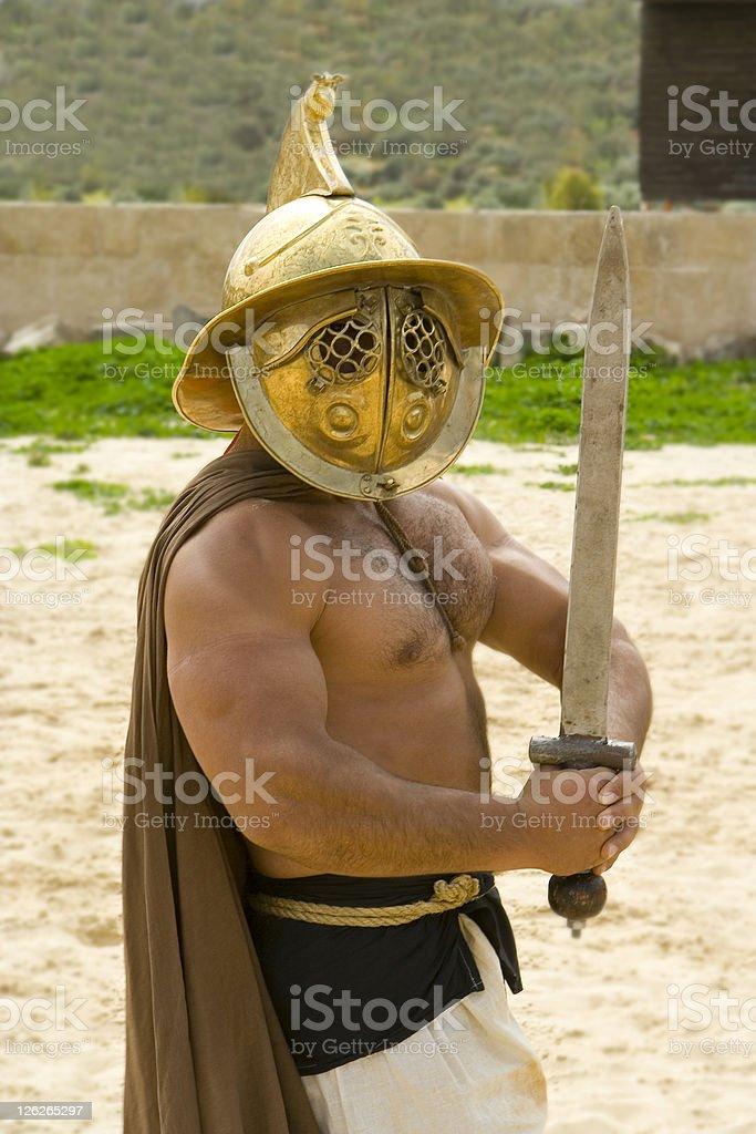 Gladiator royalty-free stock photo