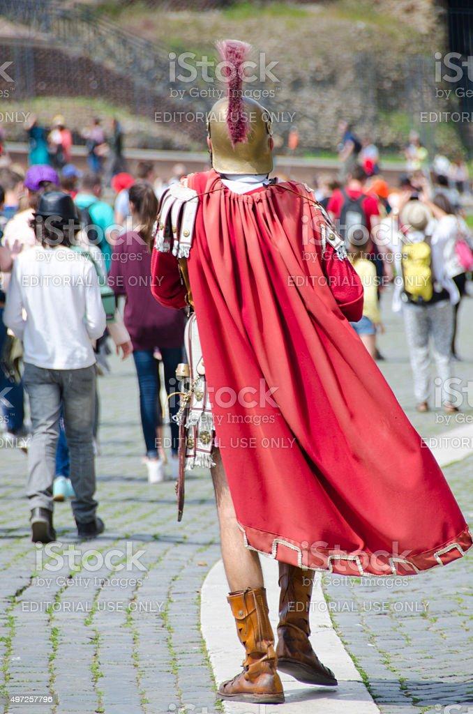Gladiator Street Performer stock photo