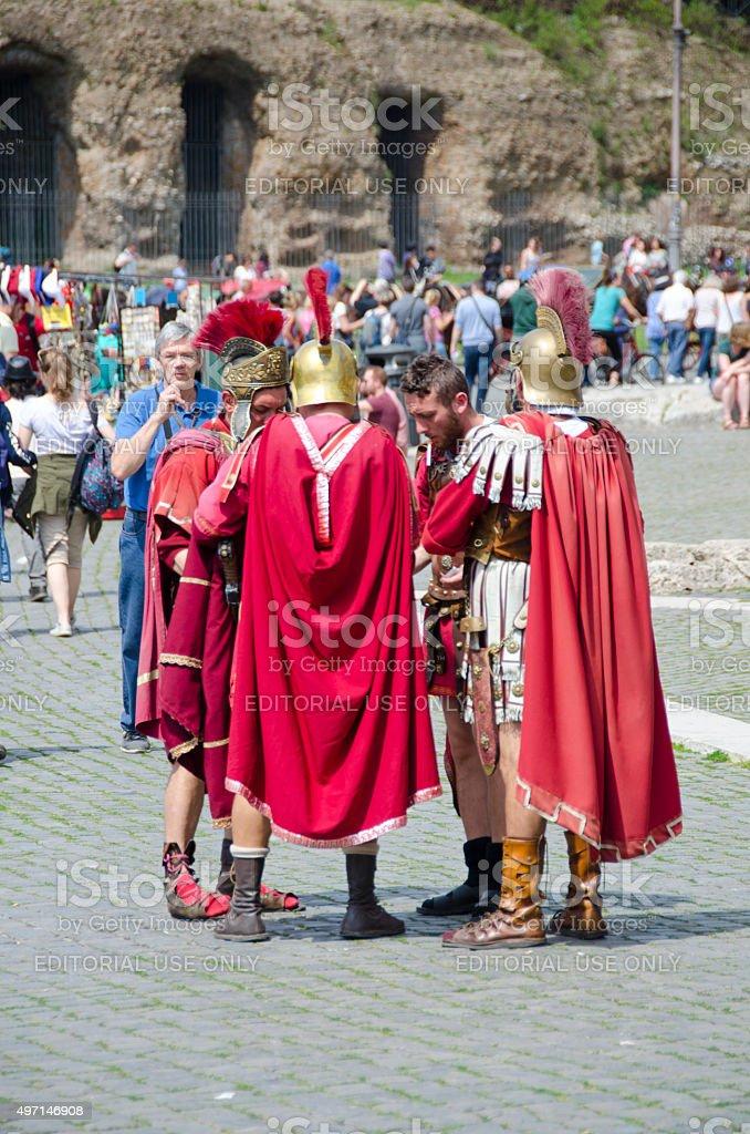 Gladiator Street Performers stock photo