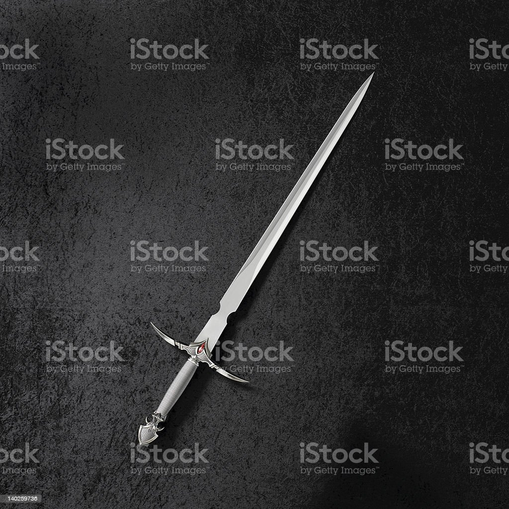 Gladiator Sword on Black stock photo