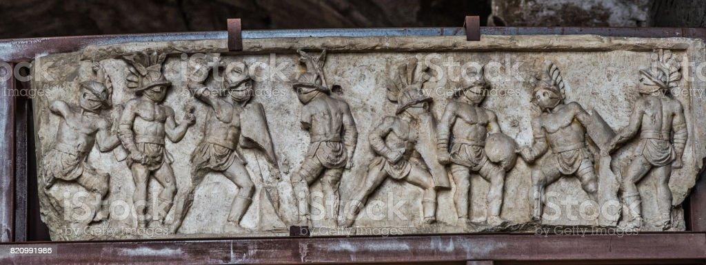 Gladiators of Colosseum in Rome stock photo