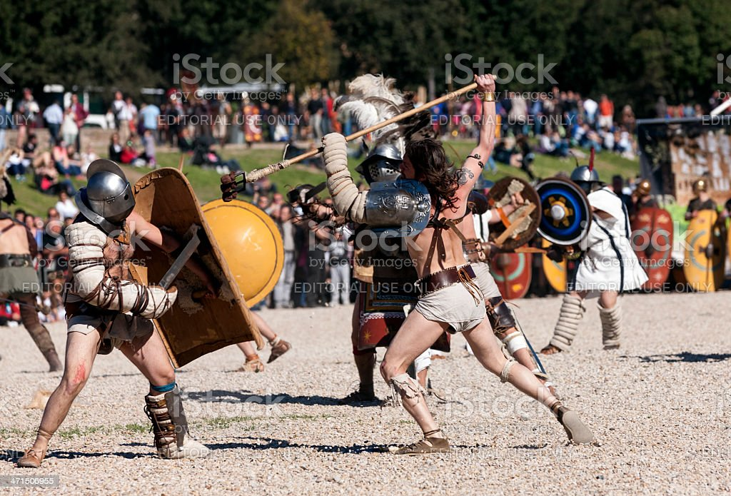 Gladiators royalty-free stock photo