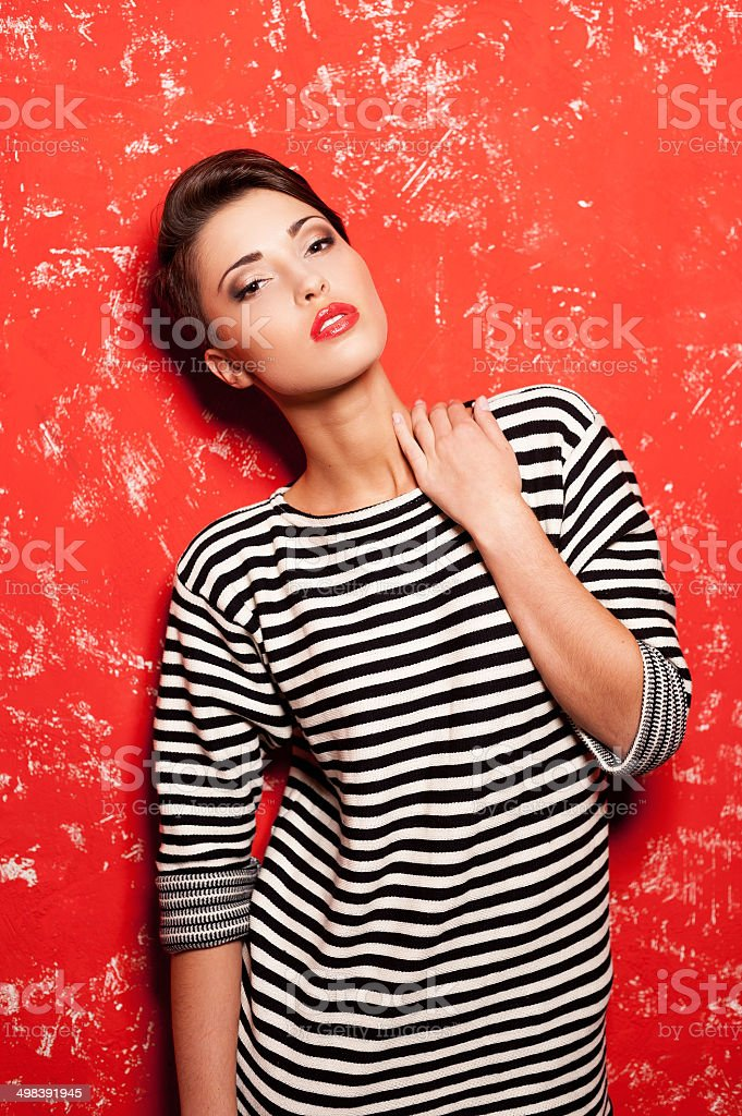 Glam and funky. stock photo