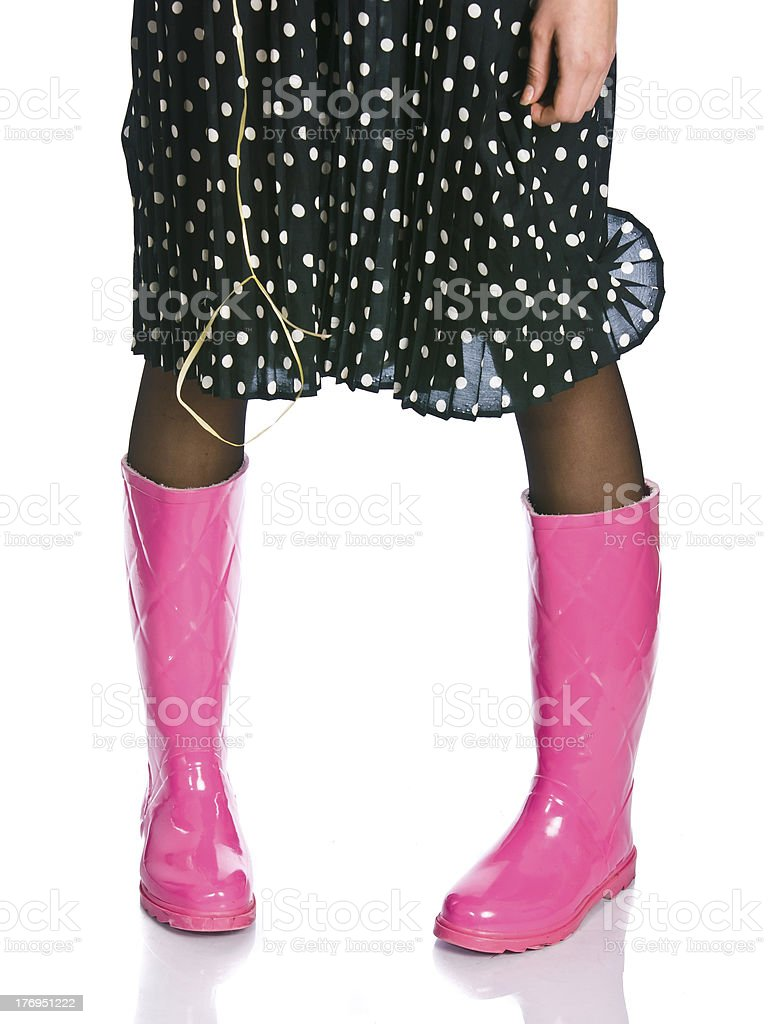 glam boots stock photo