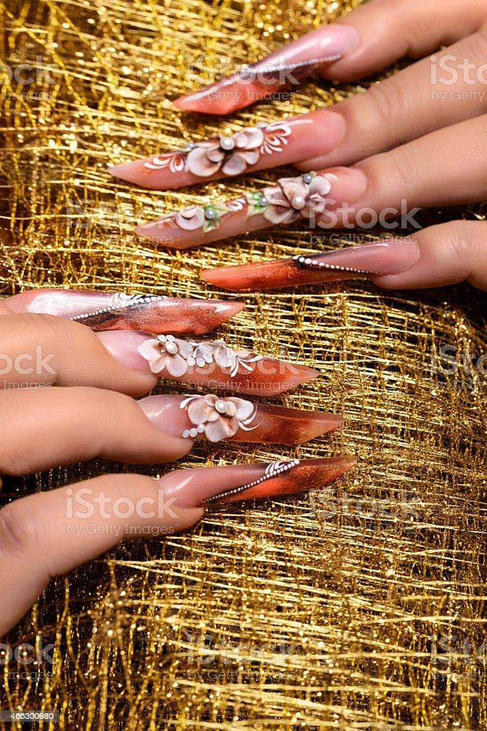 glam manicure stock photo