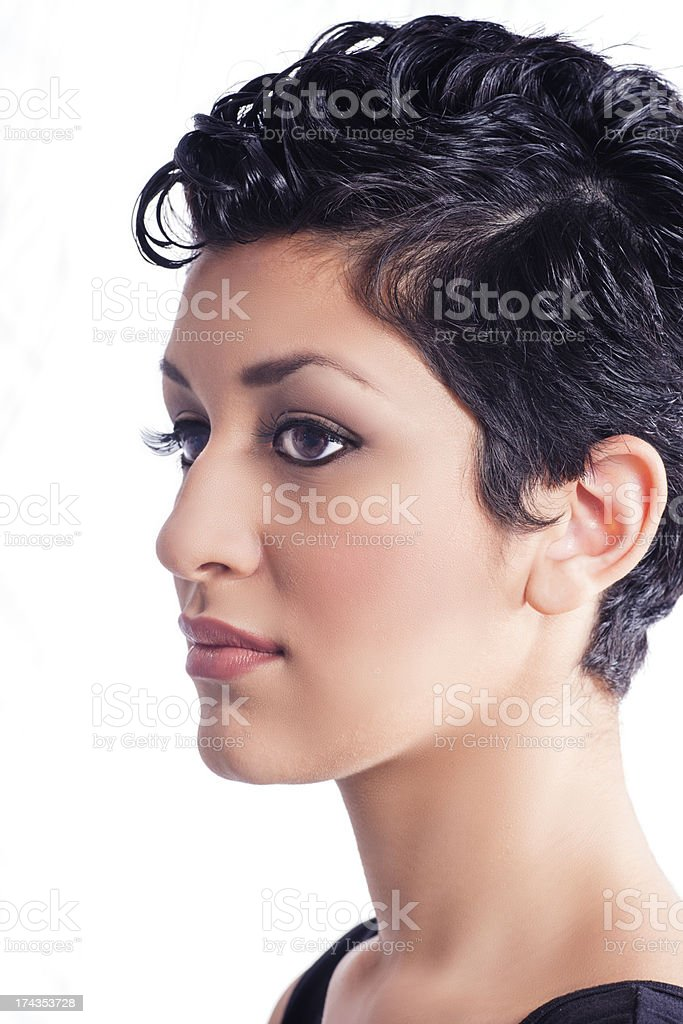Glam Portrait of Young Hispanic Woman stock photo