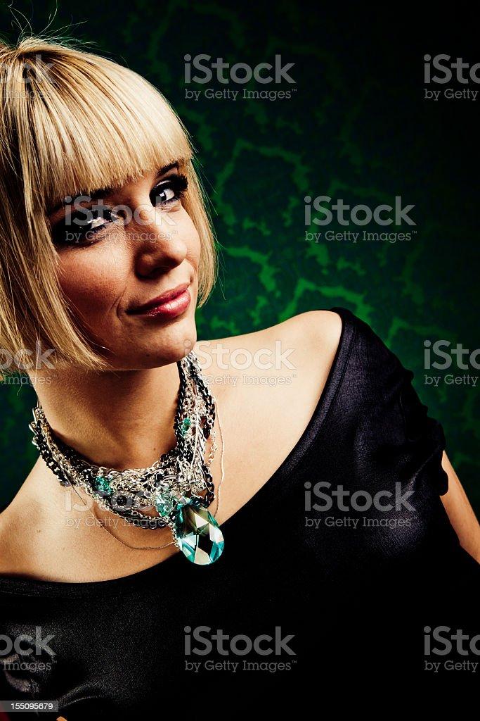Glam portrait royalty-free stock photo