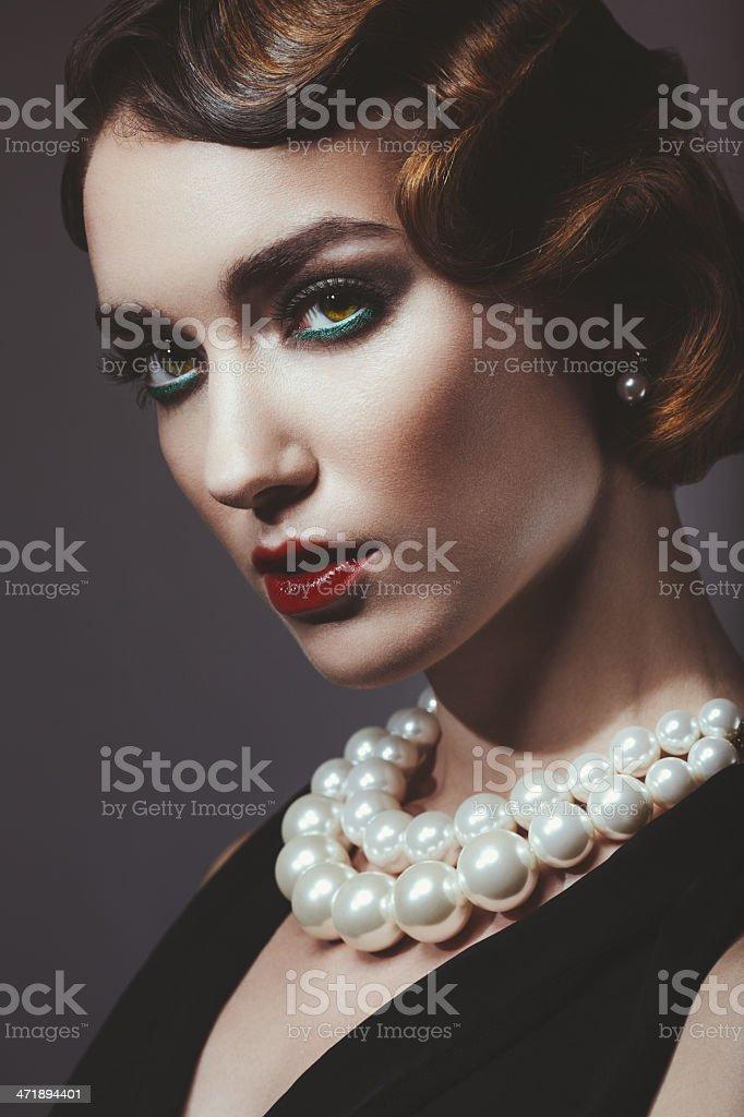Glam retro diva stock photo