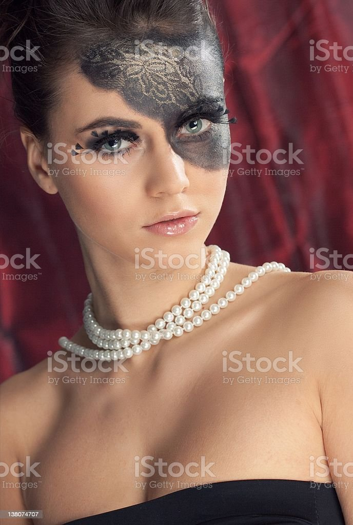 Glamor make-up with upper body stock photo