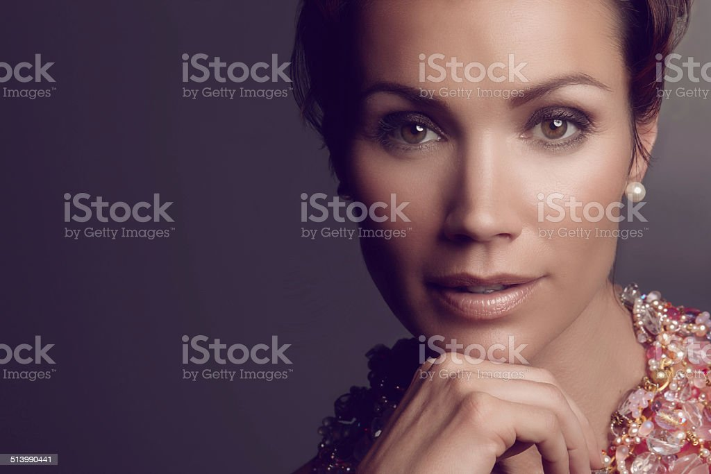 Glamorous beauty stock photo