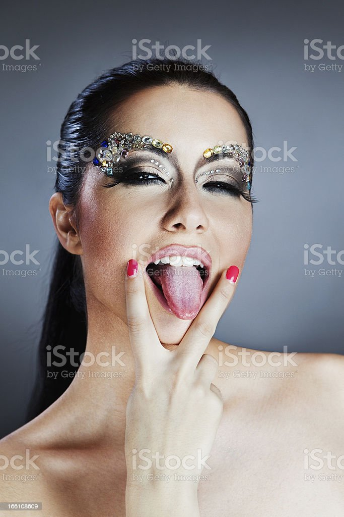 Glamorous caucasian woman royalty-free stock photo