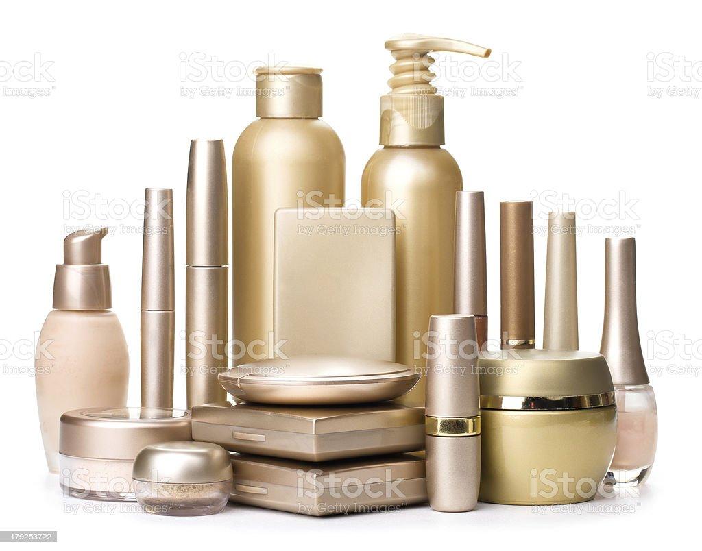 Glamorous Cosmetics isolated on a white background royalty-free stock photo