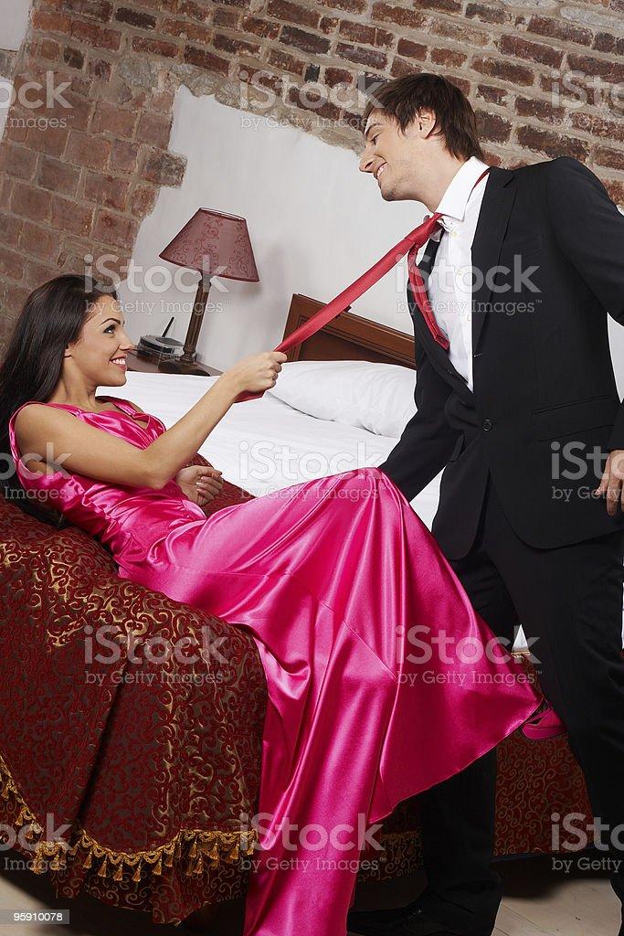 Glamorous couple royalty-free stock photo
