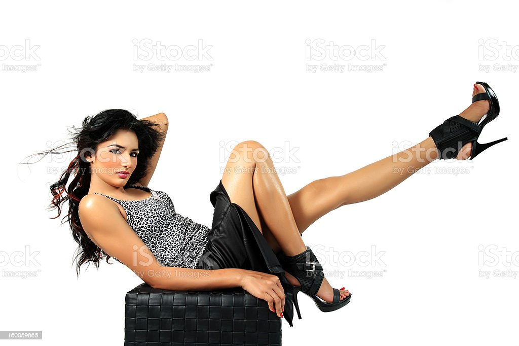 glamorous fashion model. stock photo