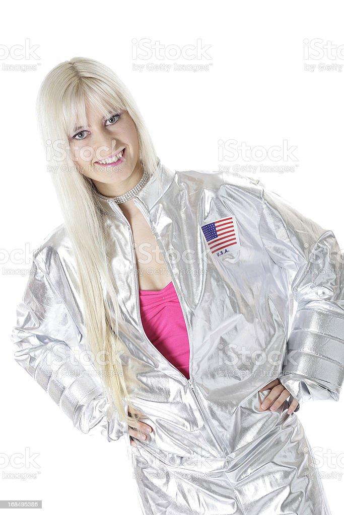 Glamorous Female Astronaut stock photo