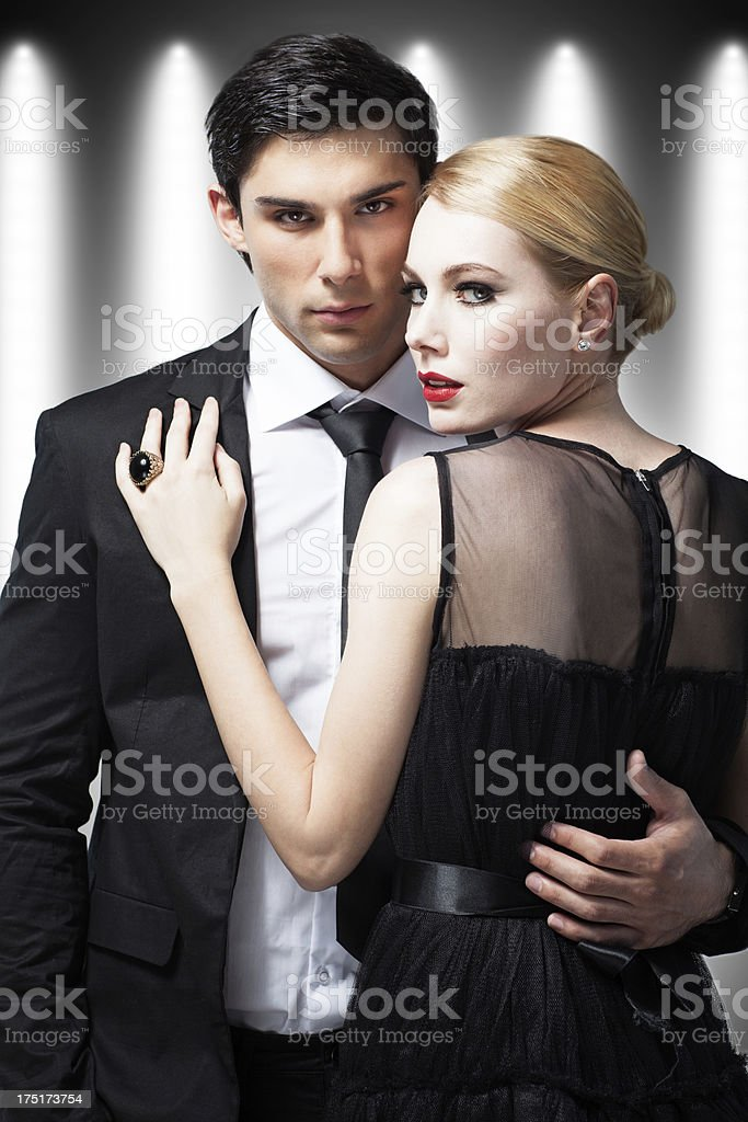 Glamorous Rich Couple royalty-free stock photo