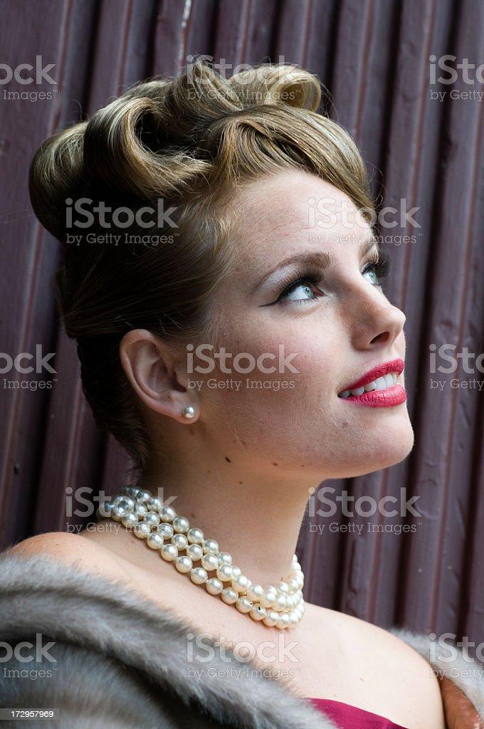 Glamorous Woman Daydreaming stock photo