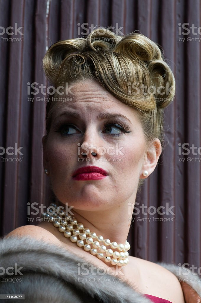 Glamorous Woman Nervous stock photo
