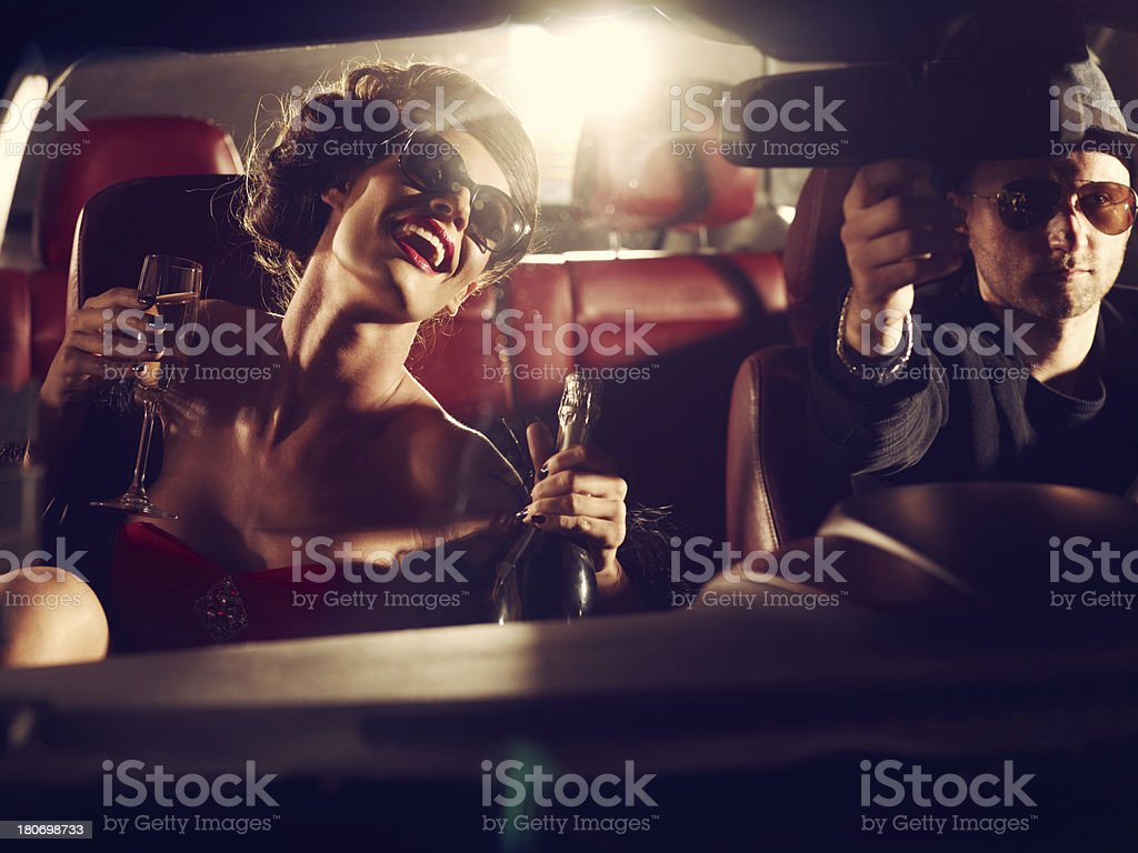 Glamorous Woman On A Night Out stock photo