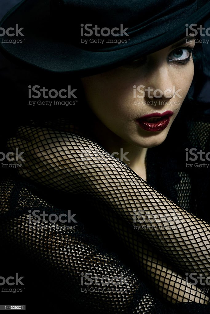glamorous woman stock photo