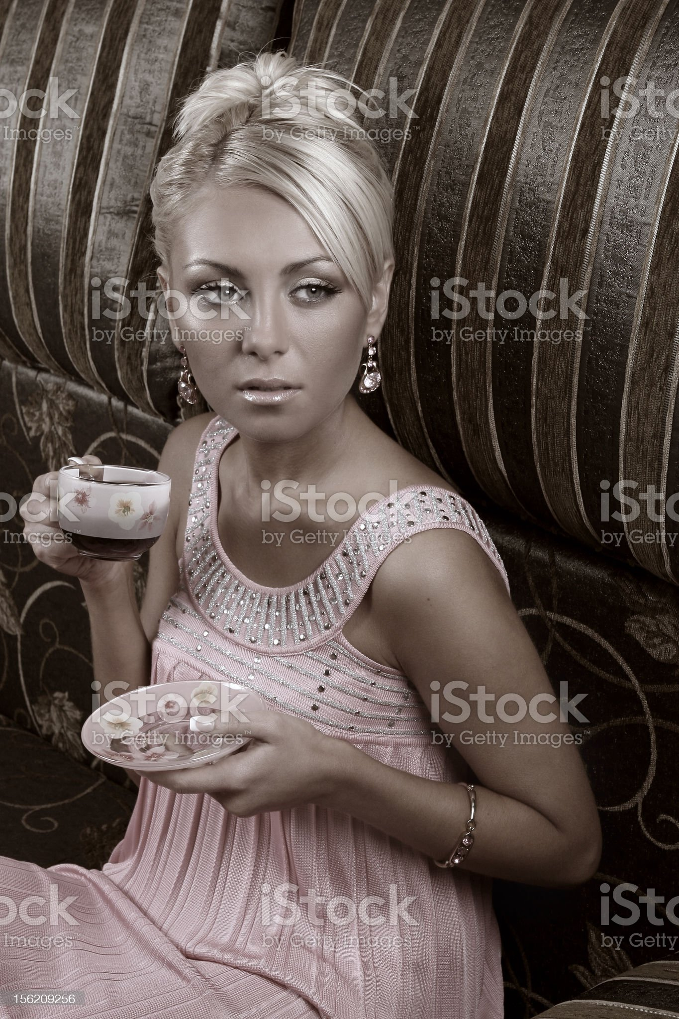 glamorous woman royalty-free stock photo