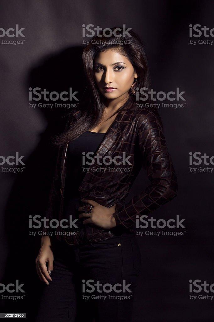 Glamorous young woman stock photo