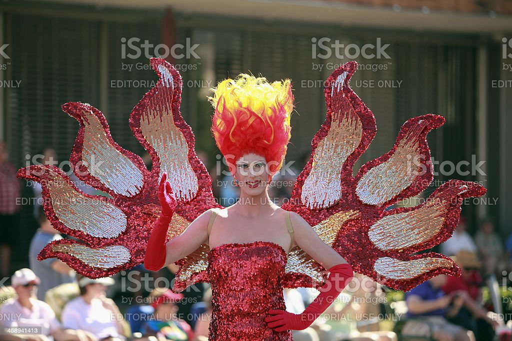 Glamour At The Pride Parade royalty-free stock photo