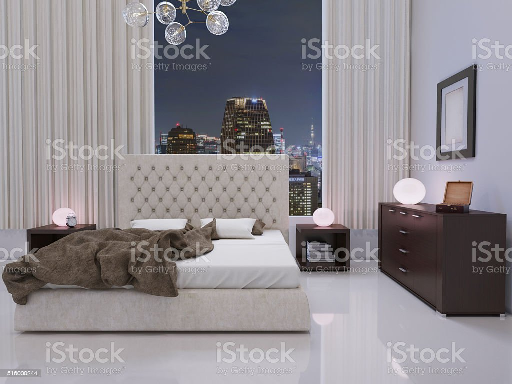 Glamour Bedroom stock photo