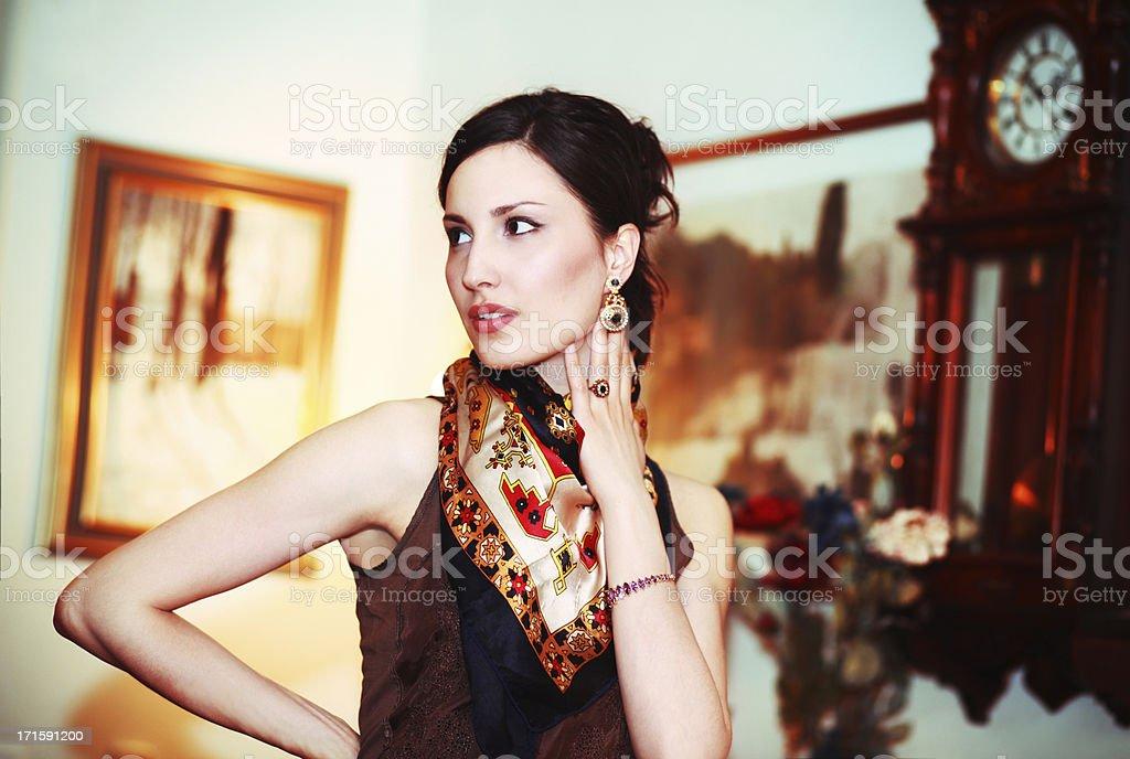 Glamour fashion portrait stock photo