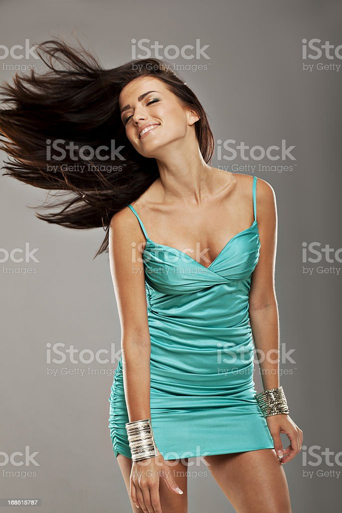 Glamour Girl Dancing stock photo