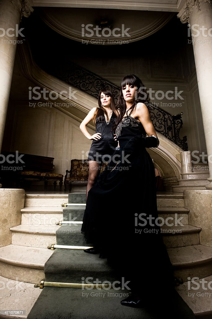 Glamour High Society Girls royalty-free stock photo