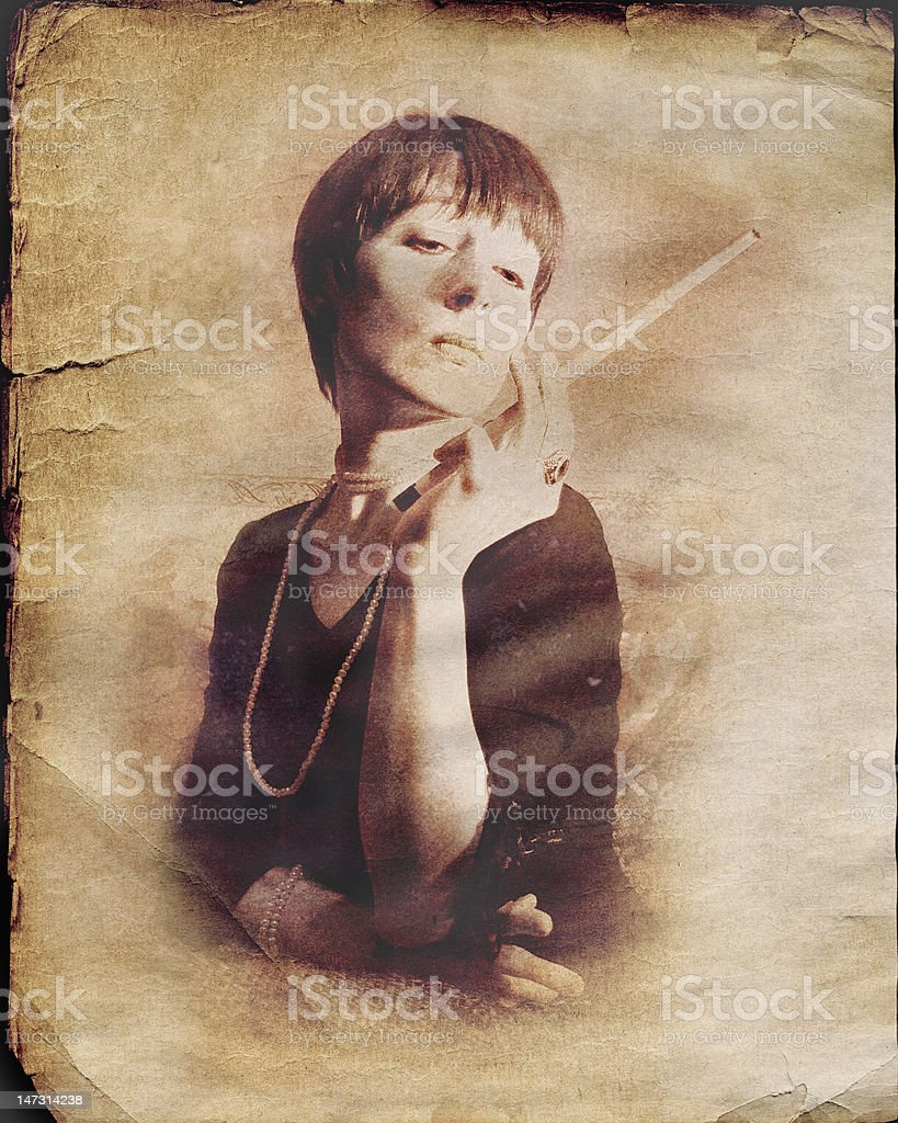 Glamour in the middle of last century royalty-free stock photo