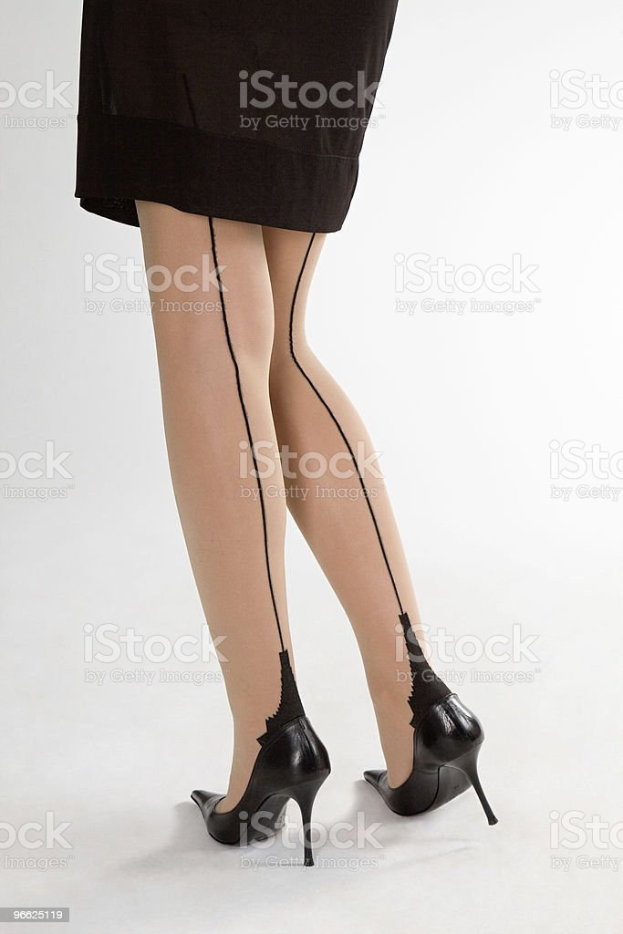 Glamour legs stock photo