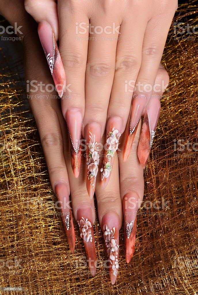 glamour manicure stock photo