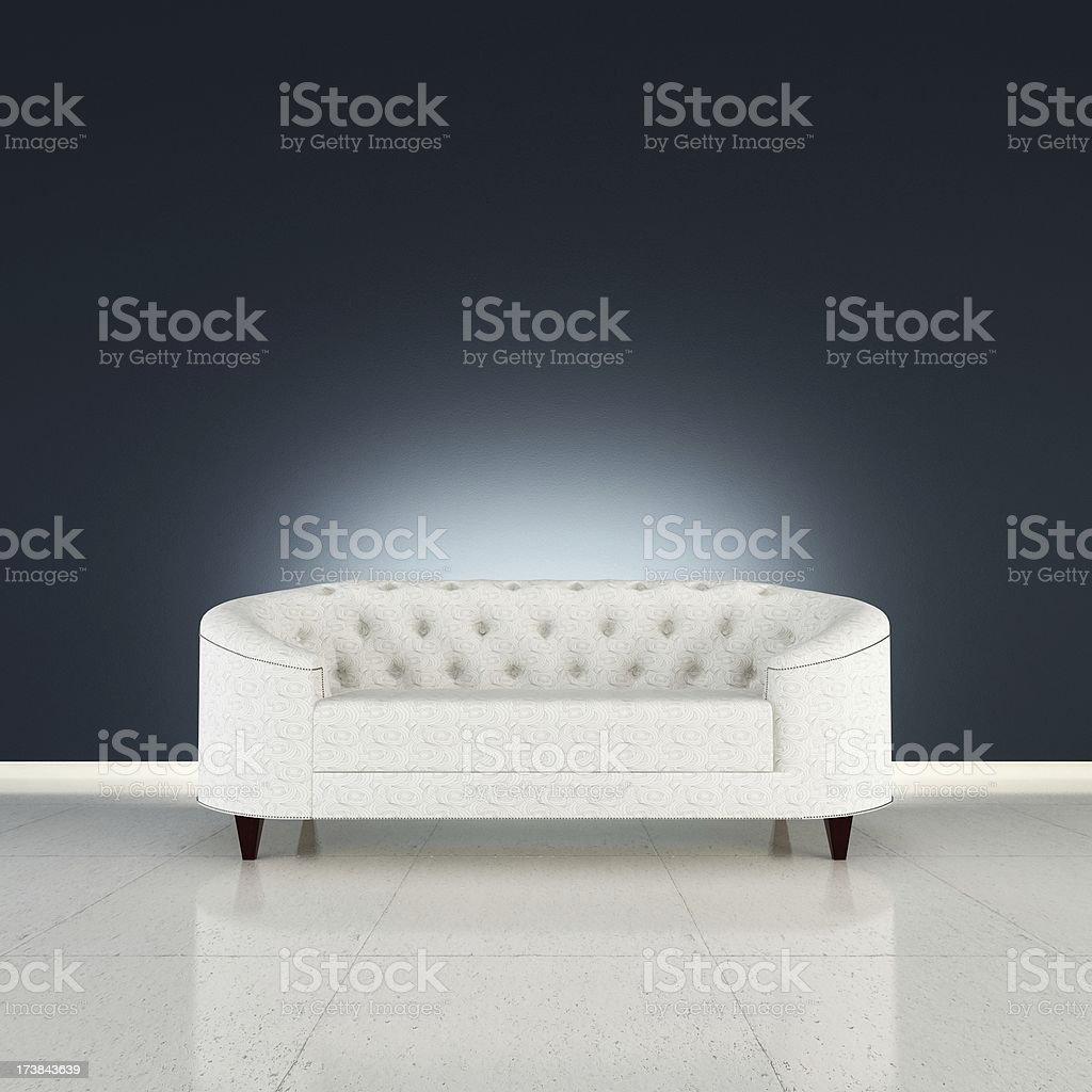 Glamour Modern Sofa royalty-free stock photo