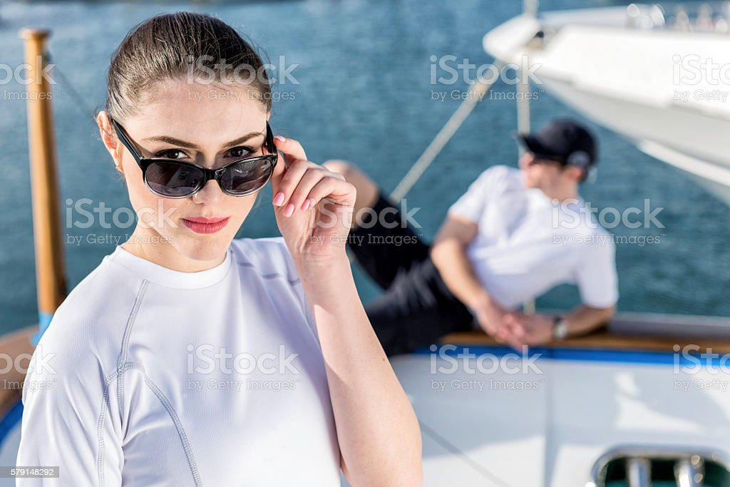Glamour of yachting! stock photo
