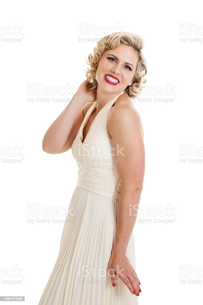 Glamour Pinup Girl stock photo