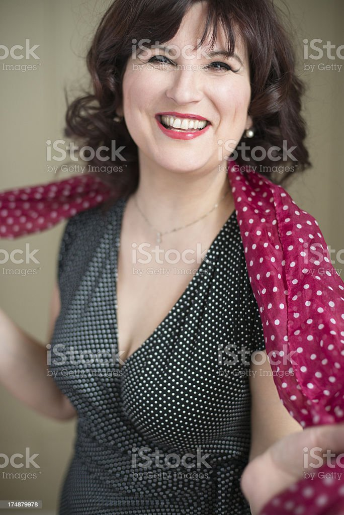 Glamour portrait of real woman in her forties. royalty-free stock photo