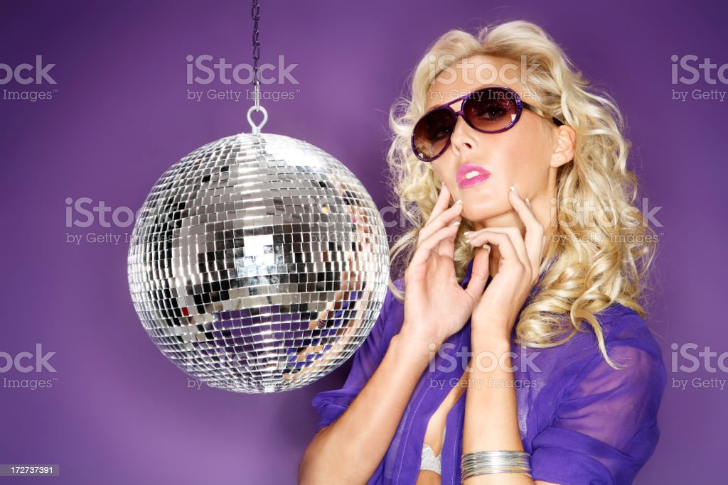 Glamour Queen Disco royalty-free stock photo