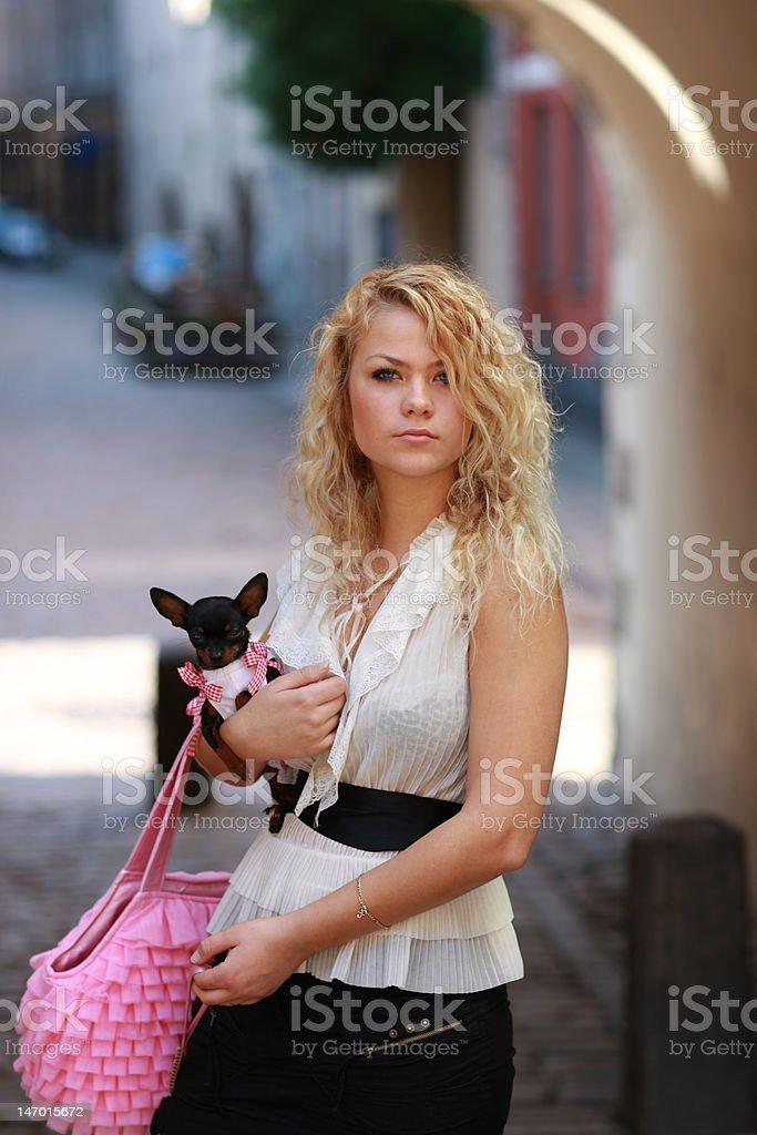 Glamour walk royalty-free stock photo
